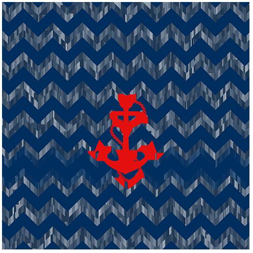 เสมอเรือสีแดงพื้นหยัก
