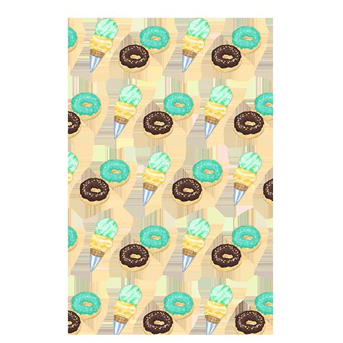 ขนมโดนัท ไอติม pattern