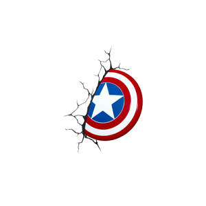 Captain America Shield into Wall