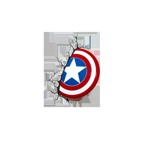 Captain America Shield into Wall