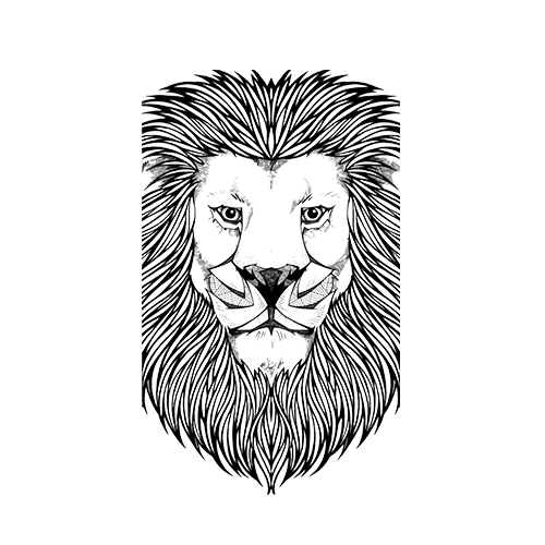 lion-black-and-white-500x500