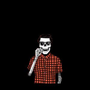 Skull ถือขวดเบียร์