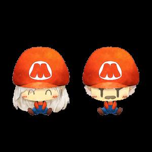 การ์ตูนคู่ใส่หมวก มาริโอ