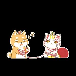 การ์ตูนแมวถักไหมพรม