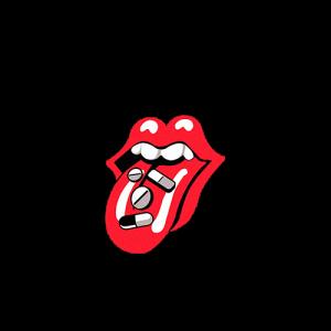 ปากสีแดง-กินยา
