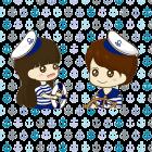 L:\Like Me Case\เคสคู่\ลาย\เคสคู่การ์ตูน เด็กชาย หญิง ใส่ชุดกะลาสีเรือ