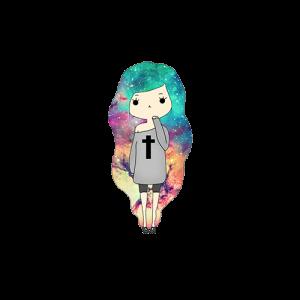 เด็กผู้หญิงสีผม-Galaxy