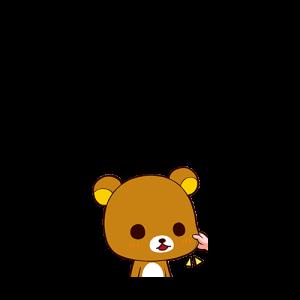 หมีคุมะ-โดนหยิกแก้ม