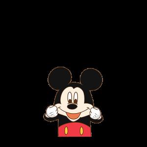 Mickey Mouse ดึงแก้ม