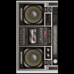 Old radio cassette player