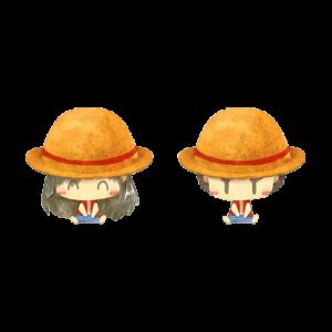 การ์ตูนคู่ใส่หมวกลูฟี่